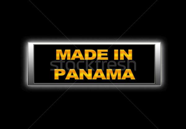 Panama imzalamak uzay alışveriş pazar Stok fotoğraf © asturianu