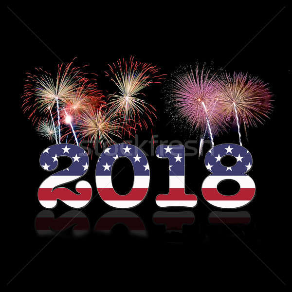 Usa nouvelle année illustration happy new year 3D Photo stock © asturianu