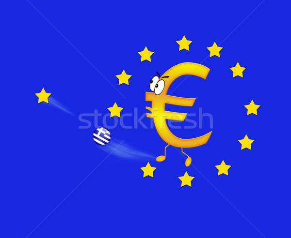 Euro Görögország Európa pénz pénzügy bank Stock fotó © asturianu