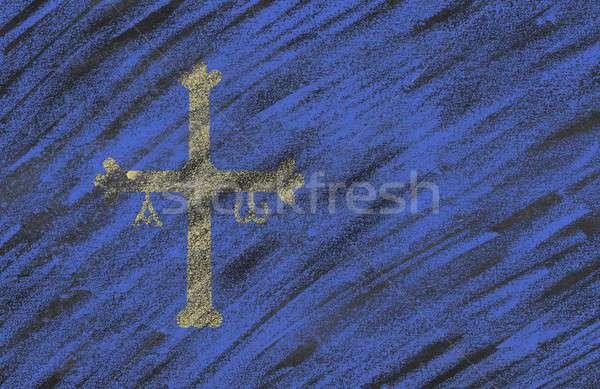 Asturias blackboard. Stock photo © asturianu