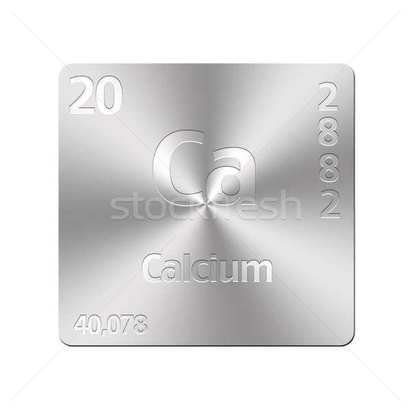 кальций изолированный металл кнопки образование Сток-фото © asturianu