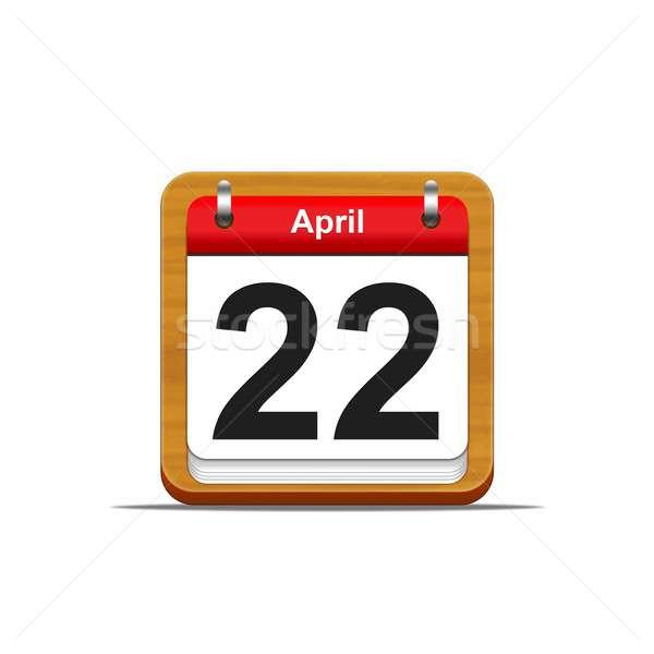 22 ilustracja elegancki kalendarza biały Zdjęcia stock © asturianu