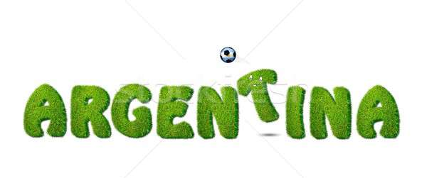 Argentine football illustration blanche herbe design Photo stock © asturianu