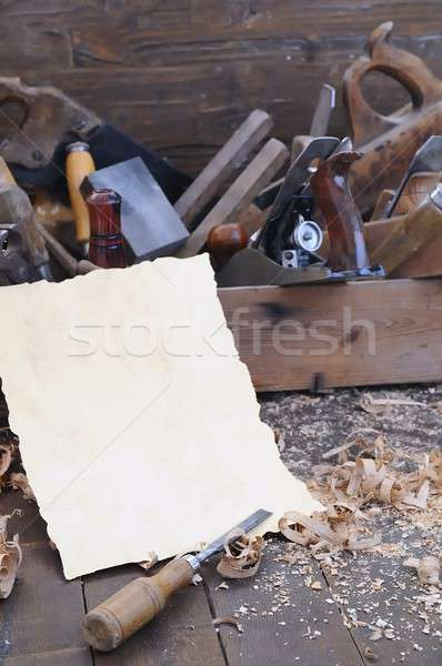 Stockfoto: Timmerman · tools · werk · tool · reparatie · workshop