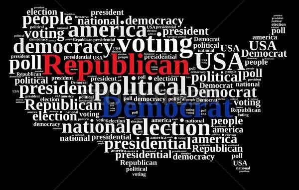 Democrat and Republic. Stock photo © asturianu