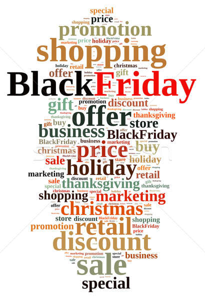 Black friday illustration nuage de mots affaires magasin nuage Photo stock © asturianu