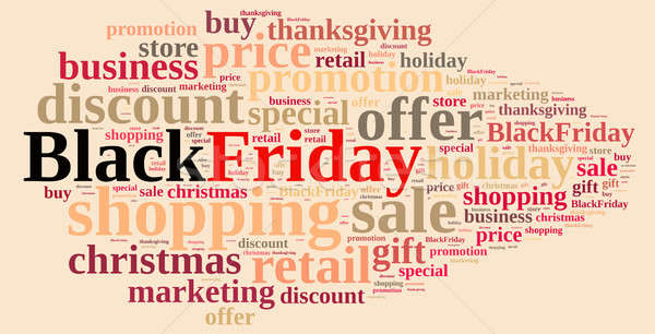Black friday illustratie woordwolk business winkel wolk Stockfoto © asturianu