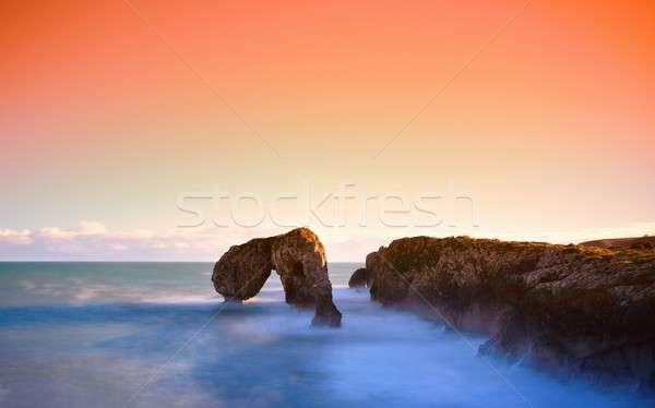 Amanecer paisaje cielo agua naturaleza Foto stock © asturianu