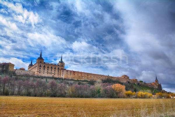 Pałac Hiszpania budynku kościoła podróży wnętrza Zdjęcia stock © asturianu