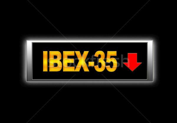 Negatieve verlicht teken monitor financieren markt Stockfoto © asturianu