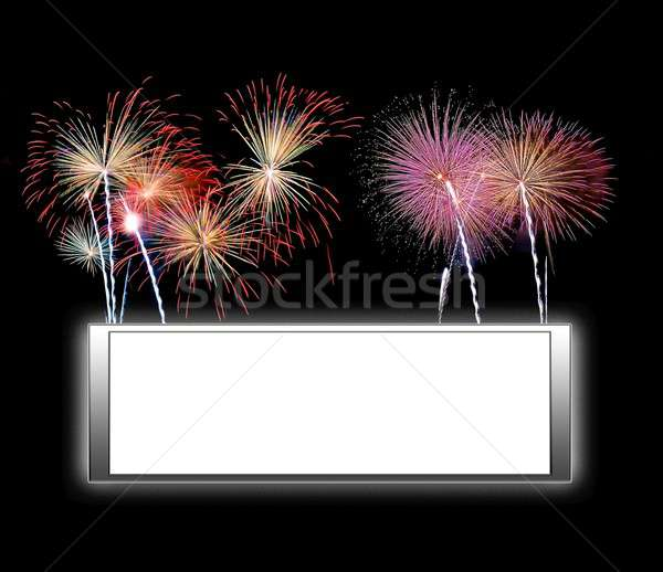 Frame with fireworks. Stock photo © asturianu