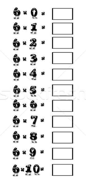 Multiplication table of 6. Stock photo © asturianu