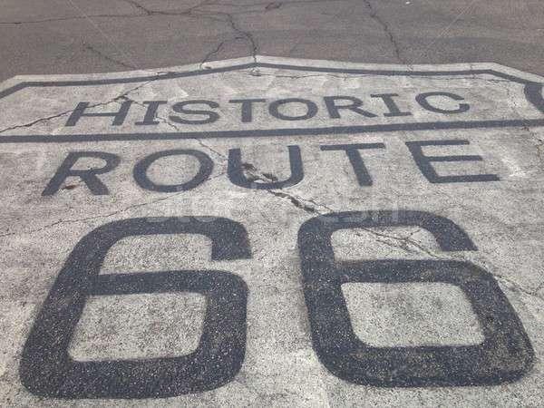 Route 66 teken historisch oude weg moeder Stockfoto © asturianu