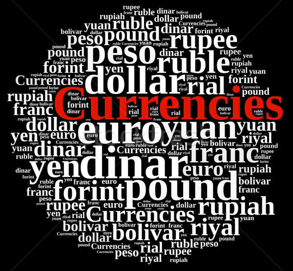 Word cloud related currencies. Stock photo © asturianu
