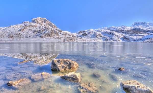 Lake Ercina, Asturias, Spain. Stock photo © asturianu