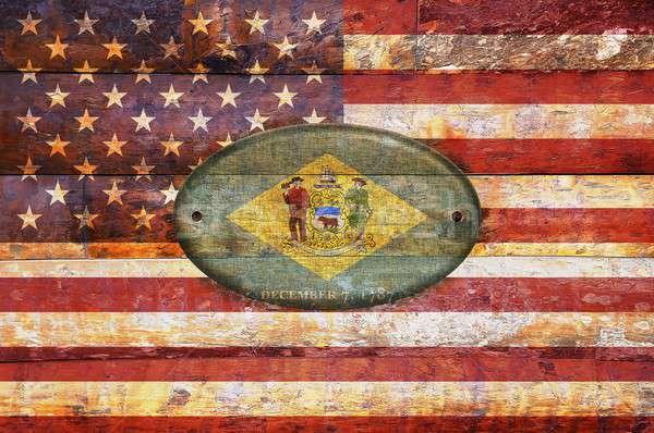 Bandeira Delaware ilustração projeto assinar Foto stock © asturianu