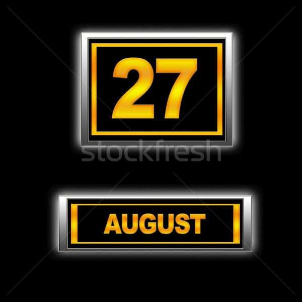 Agosto ilustração calendário educação preto agenda Foto stock © asturianu