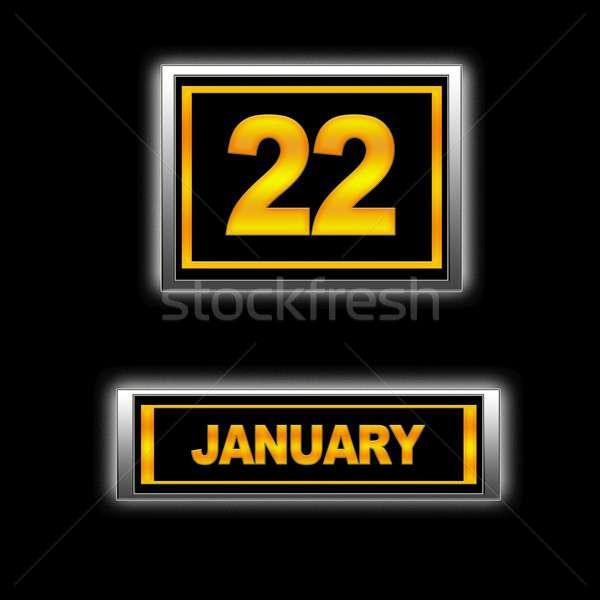 Сток-фото: 22 · иллюстрация · календаря · образование · черный · повестки