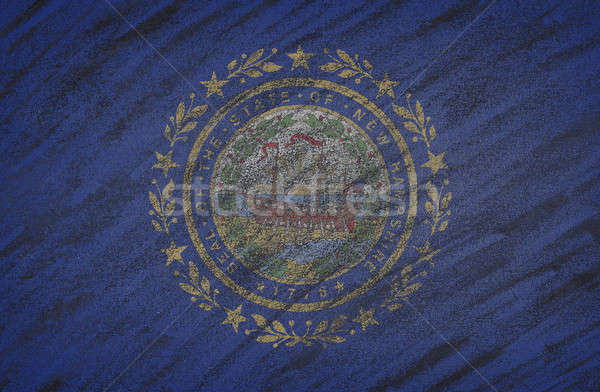 New Hampshire bayrak boyalı renkli tebeşir tahta Stok fotoğraf © asturianu