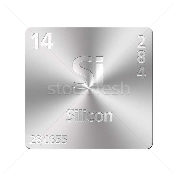 Silicium isolé métal bouton éducation Photo stock © asturianu