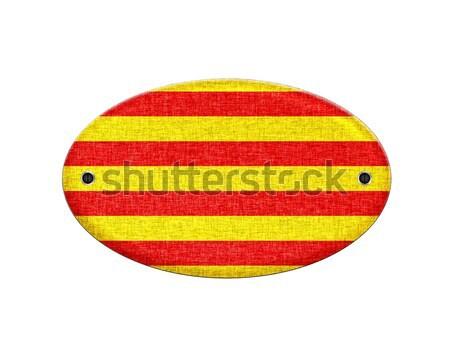 Wooden Catalonia flag. Stock photo © asturianu