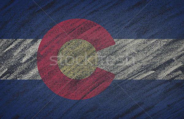 Colorado bandeira pintado giz lousa Foto stock © asturianu