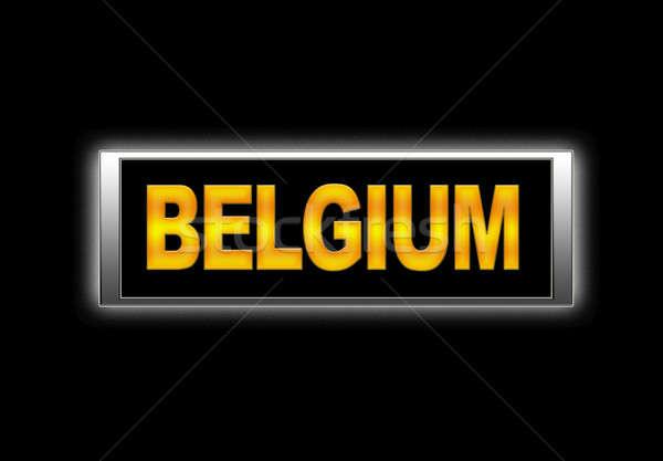 Bélgica iluminado signo vacaciones vacaciones concepto Foto stock © asturianu