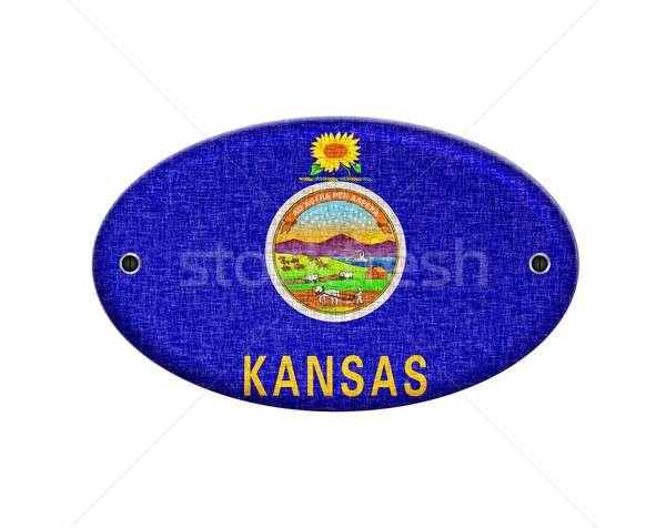 Wooden sign of Kansas. Stock photo © asturianu