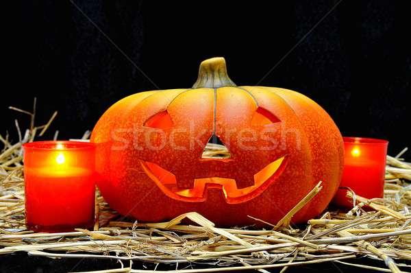 Halloween éjszaka vitorlázik félelem ünneplés ijesztő Stock fotó © asturianu