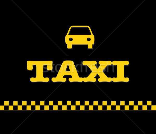 желтый такси иллюстрация слово символ город Сток-фото © asturianu