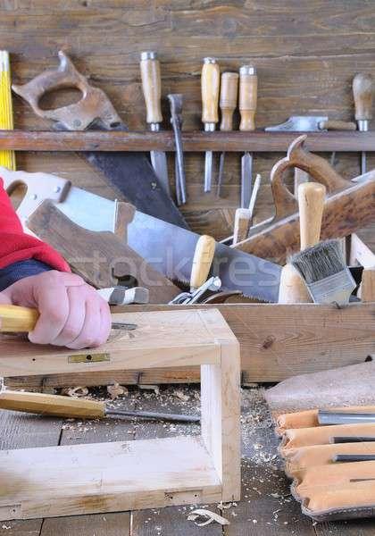 Carpenter working. Stock photo © asturianu