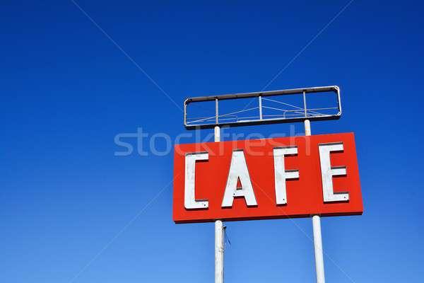 Cafe sign in Texas. Stock photo © asturianu