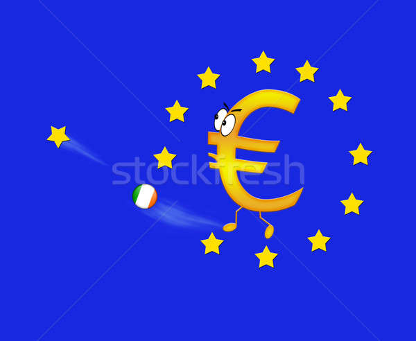 Euro and Ireland. Stock photo © asturianu