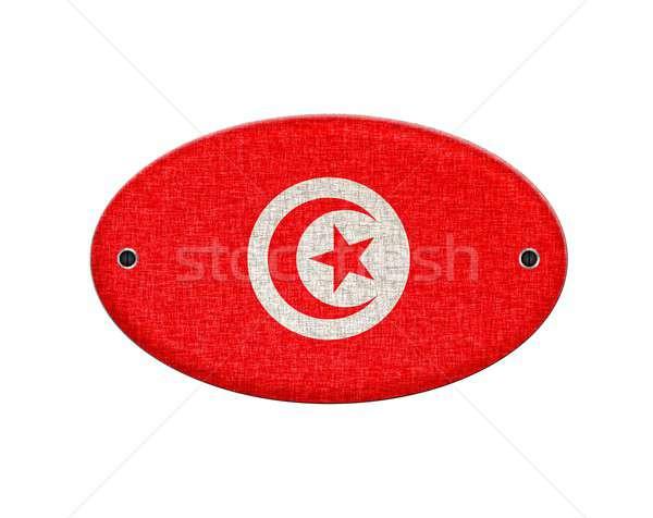 Tunísia ilustração bandeira retro vintage Foto stock © asturianu