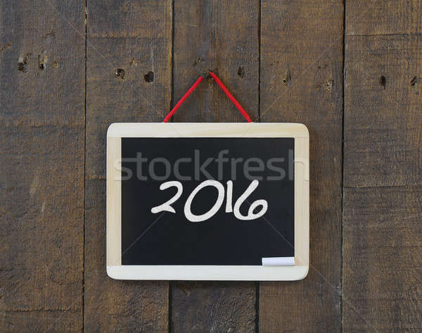 2016 blackboard. Stock photo © asturianu