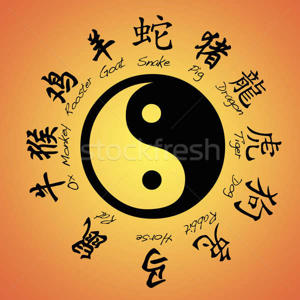 Chinese zodiac. Stock photo © asturianu