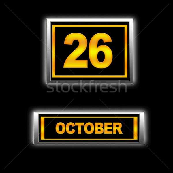 26 ilustración calendario educación negro programa Foto stock © asturianu