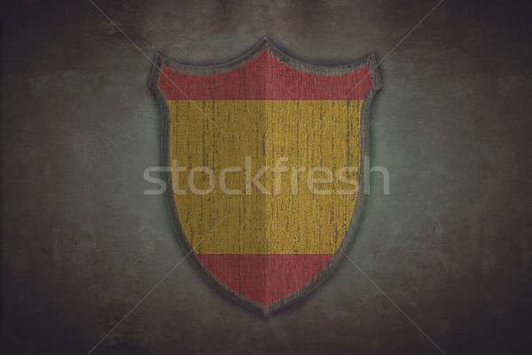 Shield with Spain flag. Stock photo © asturianu
