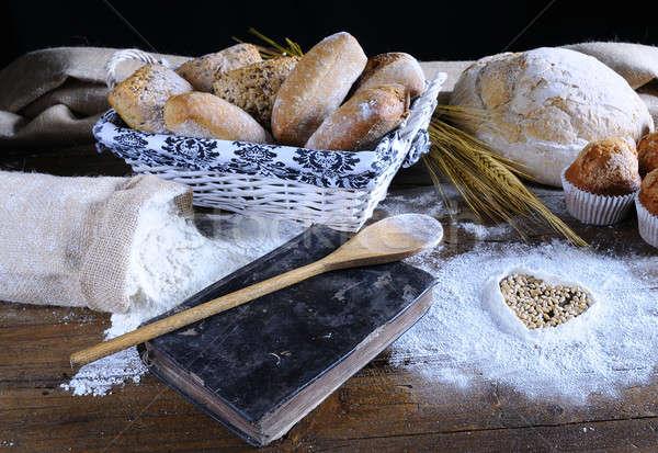 異なる パン フルーツ ケーキ 小麦粉 レシピ ストックフォト © asturianu