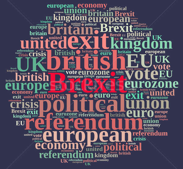 Illustration of word cloud on Brexit Stock photo © asturianu
