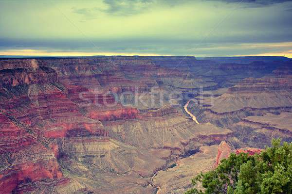 Güney Grand Canyon Arizona gün batımı doğa Stok fotoğraf © asturianu