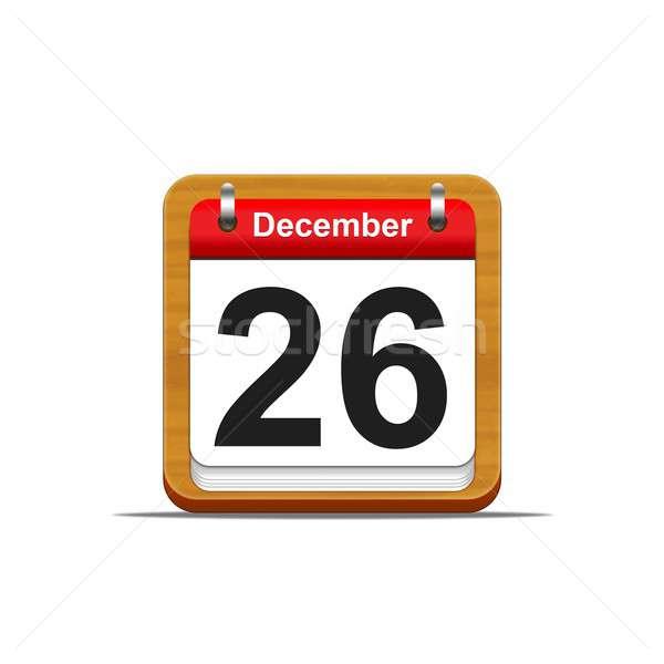 Dezembro 26 ilustração elegante calendário Foto stock © asturianu
