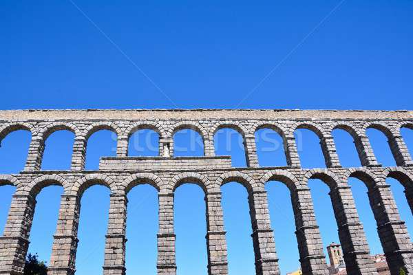 The famous ancient aqueduct in Segovia. Stock photo © asturianu