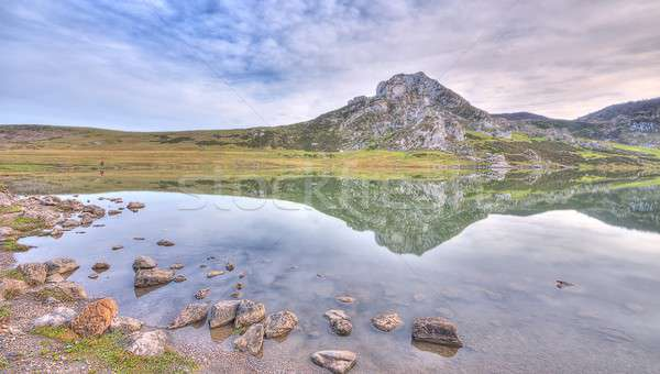 Reflections in the Picos of Europa. Stock photo © asturianu