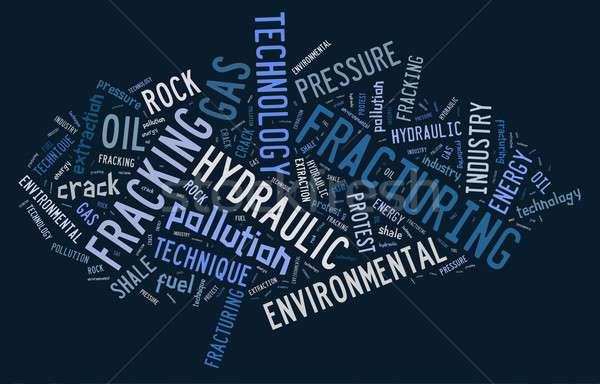 Fracking. Stock photo © asturianu