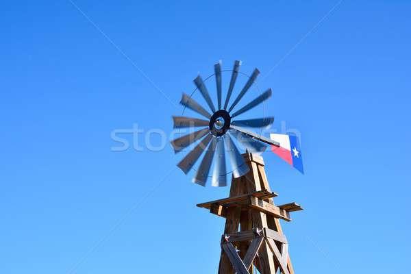 Molino de viento agrícola granja EUA Texas cielo Foto stock © asturianu