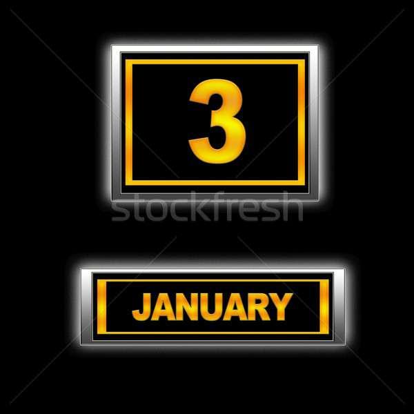 January 3. Stock photo © asturianu