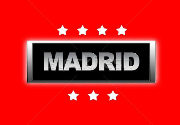 Мадрид знак фон флаг стране Сток-фото © asturianu