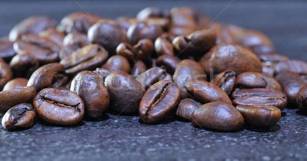Close-up of pile of roasted coffee beans Stock photo © asturianu