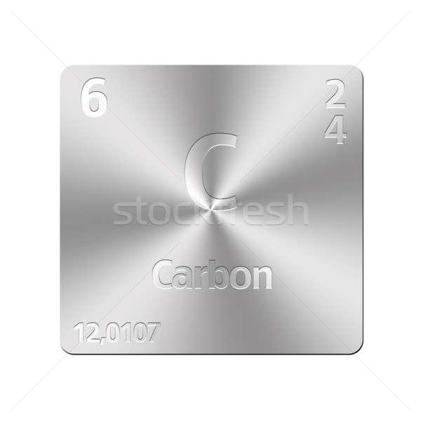 Koolstof geïsoleerd metaal knop onderwijs Stockfoto © asturianu